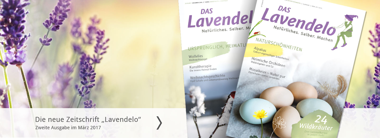 Zeitschrift das Lavendelo mit Aneitungen Natürliches Selber Machen