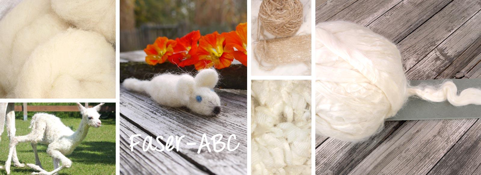 Faser-ABC Alpakas, Seide, Merinowolle und co