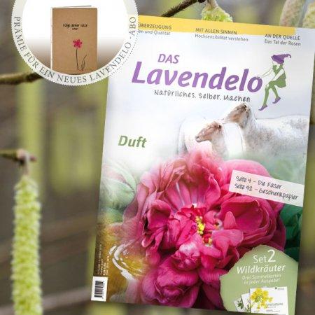 Aboprämie Notizbuch Lavendelo