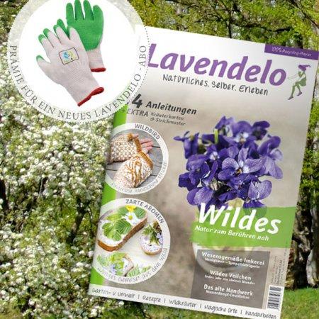 Abo Lavendelo mit Prämie Gartenhandschuhe