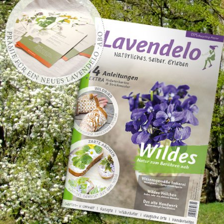 Abo Lavendelo mit Prämie Kräuterkarten