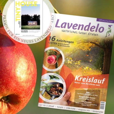 Lavendelo Abo mit Prämie Buch Tiny House